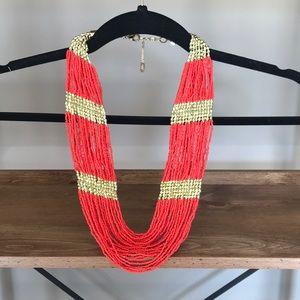 Amrita orange and gold statement necklace